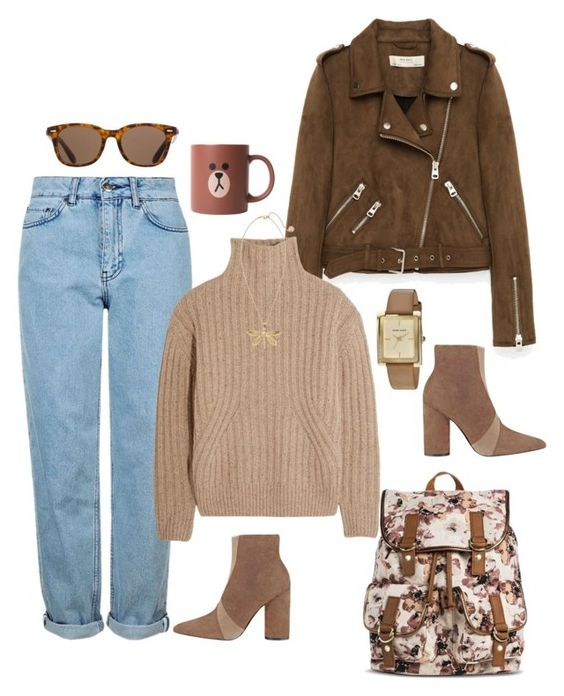 """""""Cappuccino ☕"""" by jasive-asseff-jamous on Polyvore featuring Sigerson Morrison, Freebird, Topshop, Totême, Tory Burch, ToyShades and Anne Klein"""