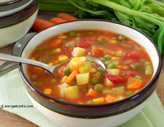 Homemade Vegetable Soup Recipe Soups with olive oil, onions, carrots ...