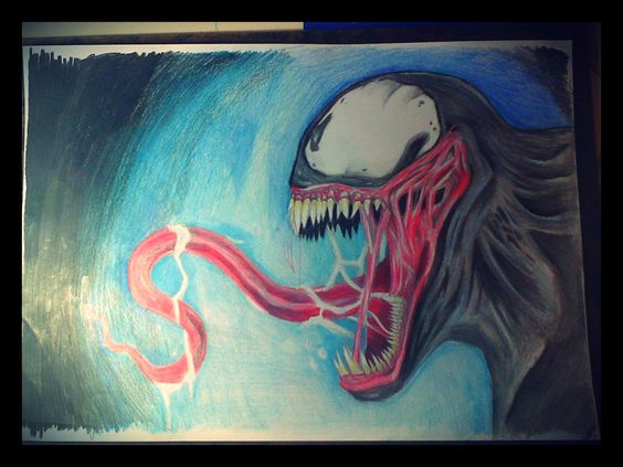 Um desenho do Venom que eu havia feito.. Resolvi pintar ele :)