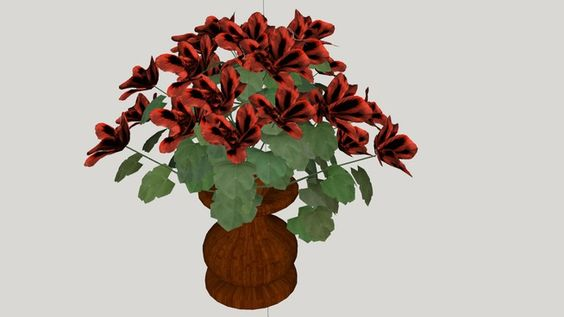 Simple Red Flower Vas - 3D Warehouse