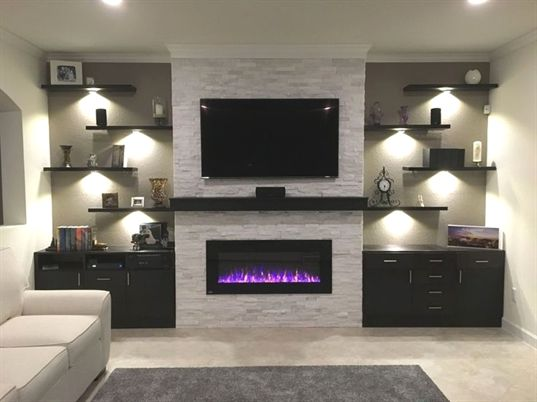 Pin By Carlap On My Favorites Fireplace Tv Wall Living