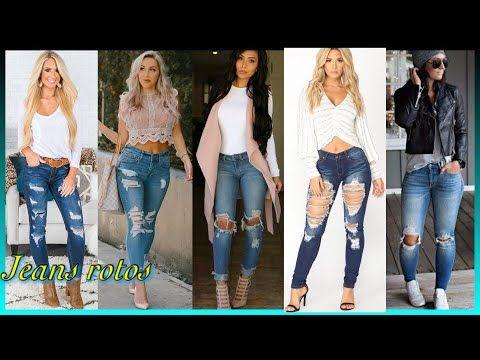 Jeans Rotos Tendencia 2020 2021 Para Todos Los Tipos De Cuerpo Youtube En 2021 Jeans Rotos Jeans Moda