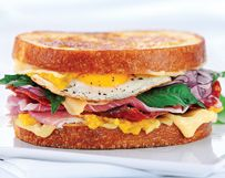 Gourmet Grilled Ham & Cheese with  Swiss