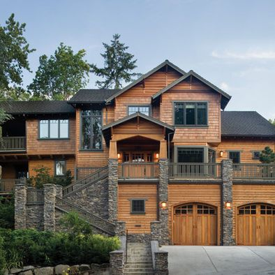 Craftsman style exterior craftsman style and craftsman on for Craftsman homes with stone