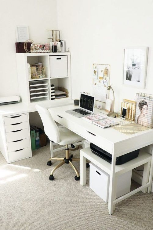 30 Simple Desk Decor Reference Ideas Ikea Home Office Home Office Furniture Ikea Home
