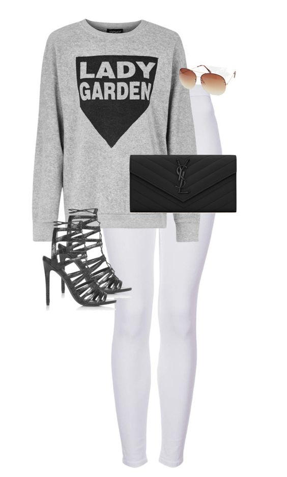 """Untitled #9636"" by alexsrogers ❤ liked on Polyvore featuring Topshop, ASOS and Yves Saint Laurent"