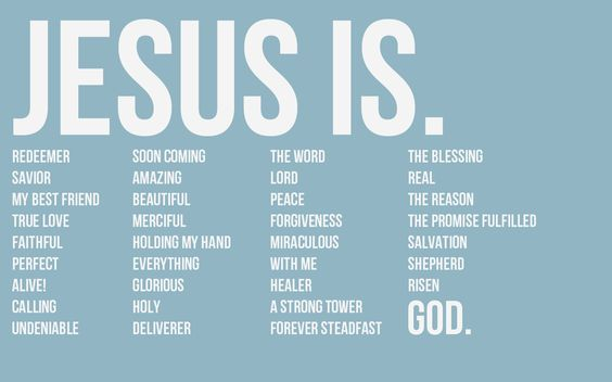 Jesus is...All of the above.