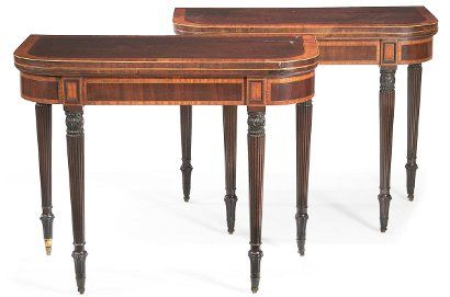George III card tables make $7,780 at Bonhams antique furniture auction