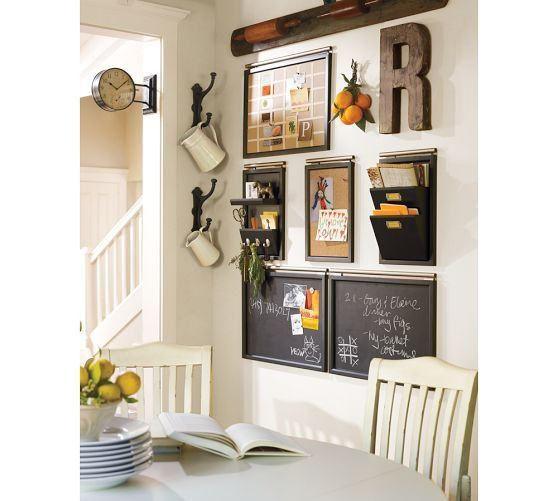Daily Organization System Black In 2020 Home Organization Family Organization Wall Command Center Design