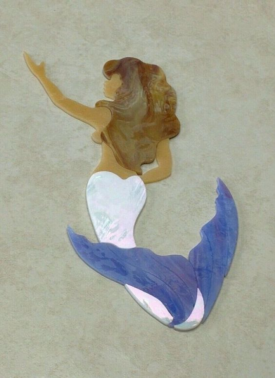 MERMAID Precut Stained Glass Handmade Original designs Ready to be used in your…