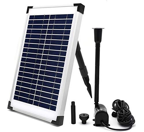 Eco Worthy Solar Fountain Water Pump Kit 10 W 160gph 12 Watt Solar Panel Submersible Powere In 2020 Solar Powered Fountain Pump Solar Fountain Solar Powered Fountain