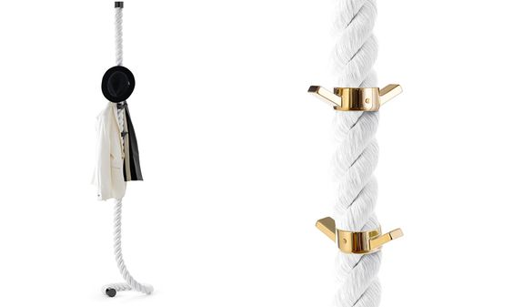 THE LACIMA3 NAUTICAL ROPE COAT HANGER: DESIGNED BY LAPO CIATTI