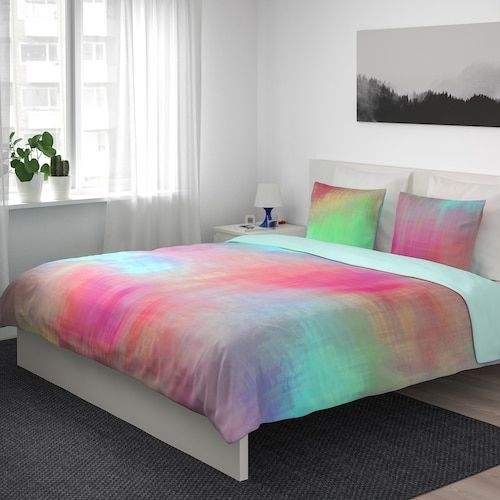 Pipstakra Duvet Cover And Pillowcase S Multicolor Full Queen Double Queen Ikea In 2021 Ikea Duvet Cover Ikea Duvet Duvet Covers