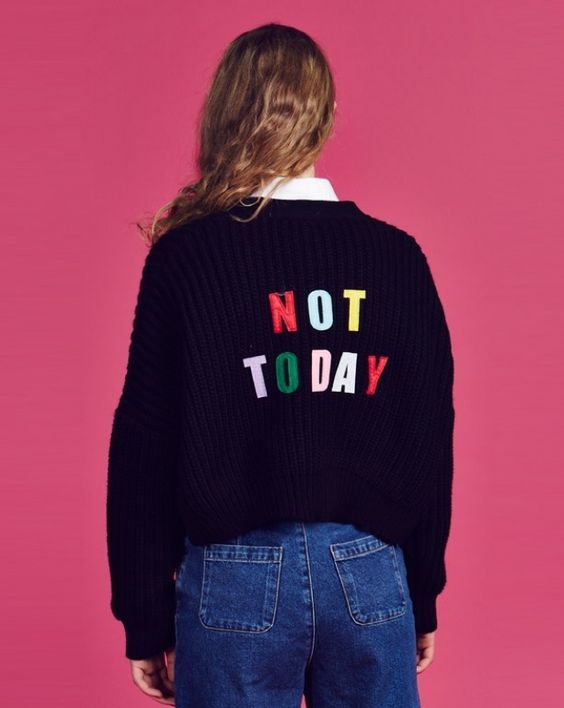 Lazy Oaf Not Today Cropped Cardigan