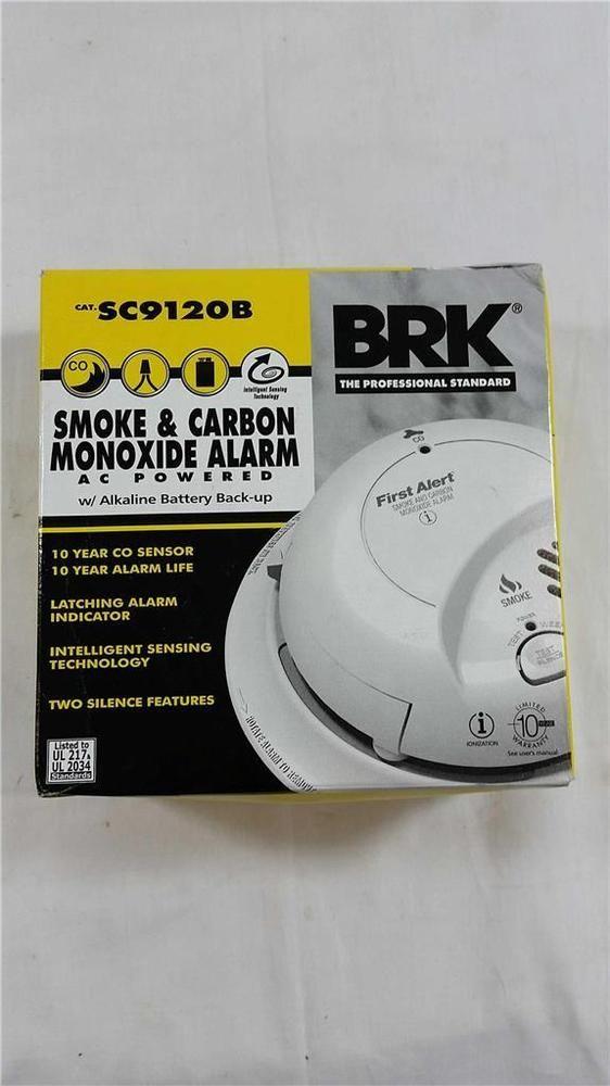 FIRST ALERT  SC9120B  Smoke /& Carbon Monoxide Alarm   120V AC Battery Backup