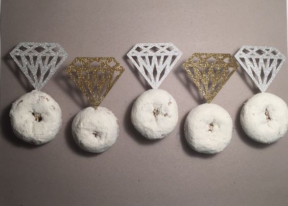 Diamond Donut Toppers by SweetsbySmooches on Etsy https://www.etsy.com/listing/243848794/diamond-donut-toppers