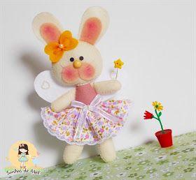 Sonhos de Mel 'ੴ - Crafts em feltro e tecido: °°Molde Coelhinha Fada...