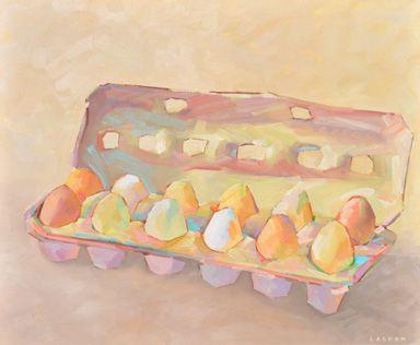 Anne Laddon, Egg Whites - Oil Painting 1197 - 20 x 24