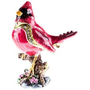 Metal Red Bird Jewel Box
