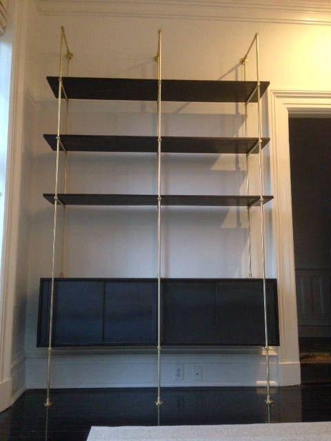 Brass Shelf Fitting Brass Shelving Unit Custom Design Etsy Brass Shelving Shelving Glass Shelves Kitchen