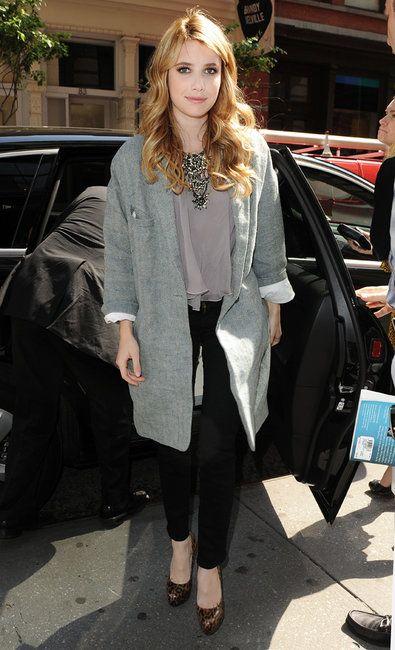 Emma Roberts wearing Brian Atwood Fiona Pumps