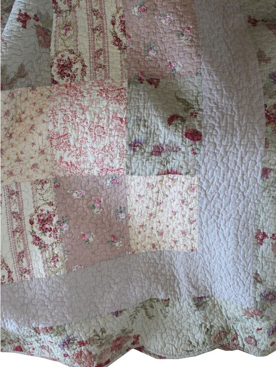 Överkast Vintage Rosor dubbelsäng beige rosa shabby chic lantlig ...