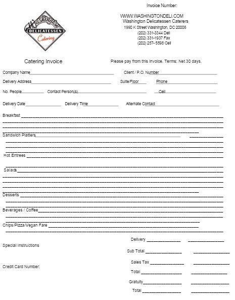 Catering Invoice Template 4 | Catering Invoice Templates