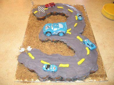 CARS Cupcake Cake!! Birthday idea for my little guy