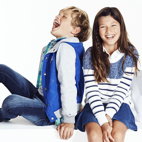 Little adventurers discover a wide variety of vivid spring prints from Tommy Hilfiger