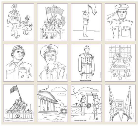 Free Printable Veterans Day Coloring Pages  Patriotic Party