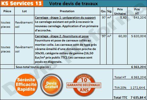 Prix Pose Carrelage Au M2 Sans Fourniture Poser Du Carrelage Carrelage Carrelage Sol