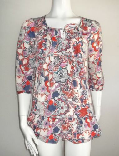Liberty of London tunic Top m 8 10 New Target Jumper print floral choices Blouse