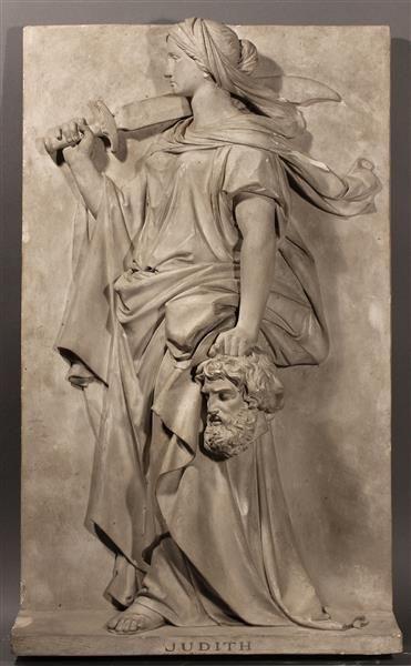Judith, design for the relief at the Dresden Gemäldegalerie. Hähnel, Ernst Julius (1811-1891)   1890   Sculpture Collection. Dimensions  H: 77.0 cm, W 46.5 cm, D: 16.0 cm. Staatliche Kunstsammlungen Dresden.