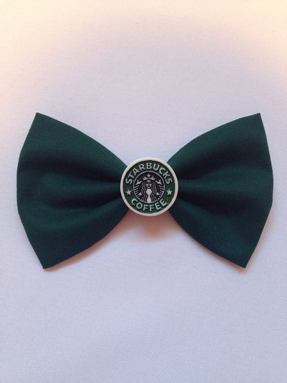 Starbucks hair bow on Etsy, $9.71