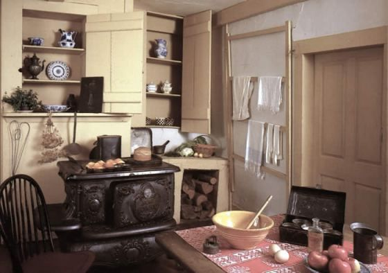The kitchen at Louisa May Alcott's Orchard House