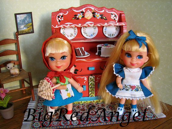 Liddle Red Riding Hiddle and Alice in Wonderliddle.  Alice was one of my favorite dolls!  I still have her and the white rabbit!