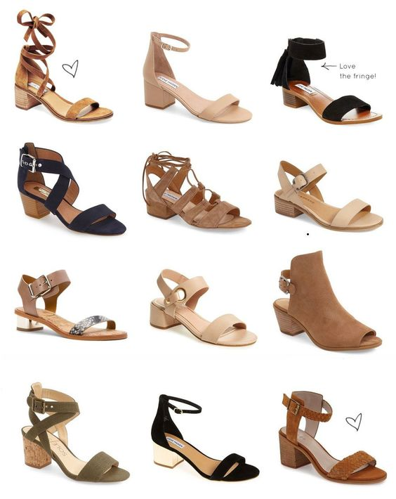 Say hello to your new favorite summer shoe trend: low block-heeled sandals.