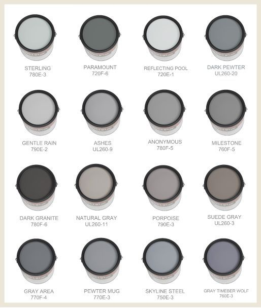 Some of the best grays and blues are made by behr this Shades of grey interior paint