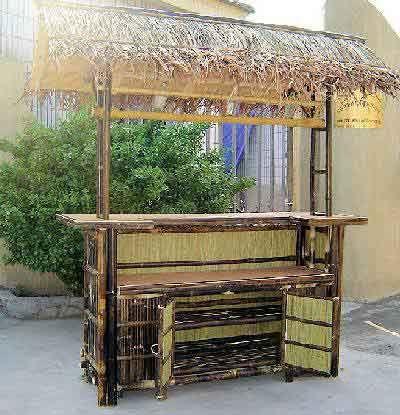 Tiki Bar Design Plans Tropical Double Deck Deluxe Bamboo