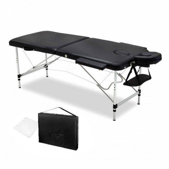 Zenses 2 Fold Portable Aluminium Massage Table Black Massage