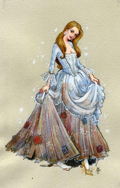 宝石のドレスを着たシンデレラ