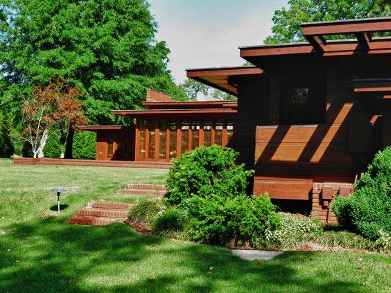 Rosenbaum House. 1940. Addition in 1948. Usonian Style. Florence, Alabama. Frank Lloyd Wright.