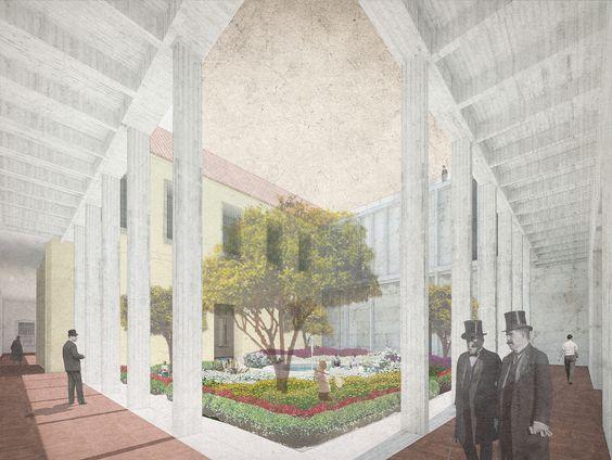 Segundo y Tercer Lugar Concurso Edificio Anexo Museo Histórico Nacional de Chile