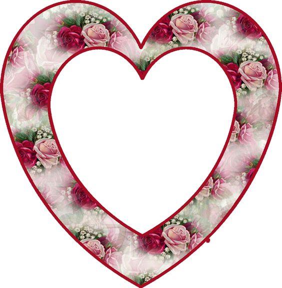 CH.B *✿*corazon floral estampado