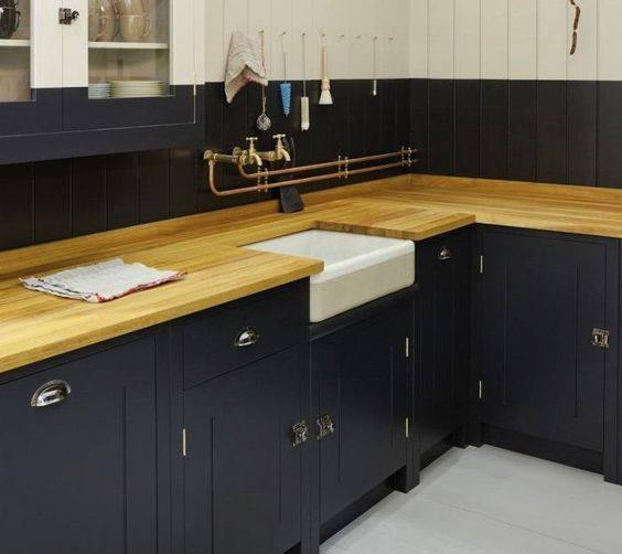 Black Kitchen Cabinets With Butcher Block Countertops: Diy Butcher Block Countertops, Cabinets And Resource