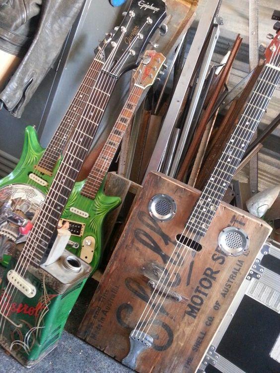 Home made guitars.
