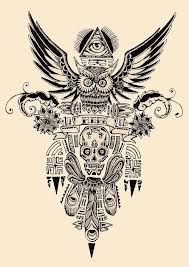 Google ps and illustrations on pinterest - Tatouage hibou homme ...