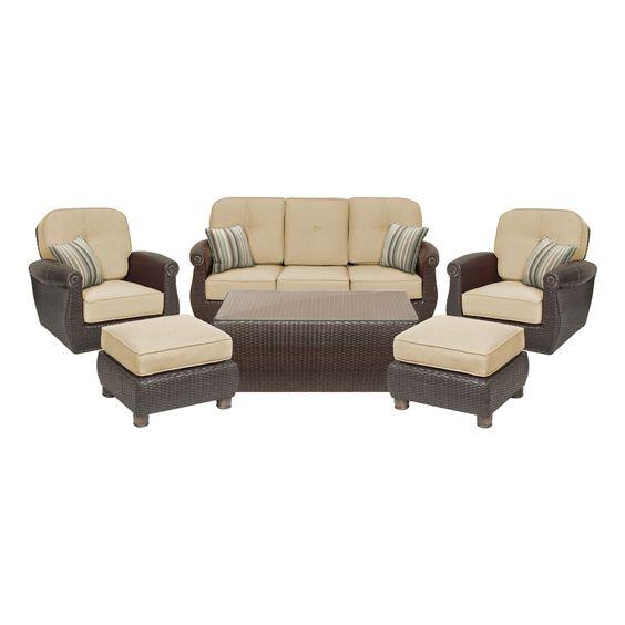 amazoncom breckenridge 6 piece patio furniture seating set two swivel rockers amazoncom patio furniture