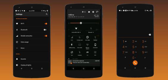 Black MTRL - Dark Orange CM13 v4.4  Jueves 17 de Diciembre 2015.Por: Yomar Gonzalez   AndroidfastApk  Black MTRL - Dark Orange CM13 v4.4 Requisitos: 5.0  Descripción: USTED DEBE TENER UNA ROM PERSONALIZADO CON EL TEMA DEL MOTOR CM12 Y UN DESPUÉS BUILD 01/29/2015 Para que esto funcione !! No compre esto si no está seguro de lo que es eso! !! Este tema está en beta como es el motor del tema !! Por favor envíeme un correo electrónico con cualquier problema para que puedan ser corregidos…