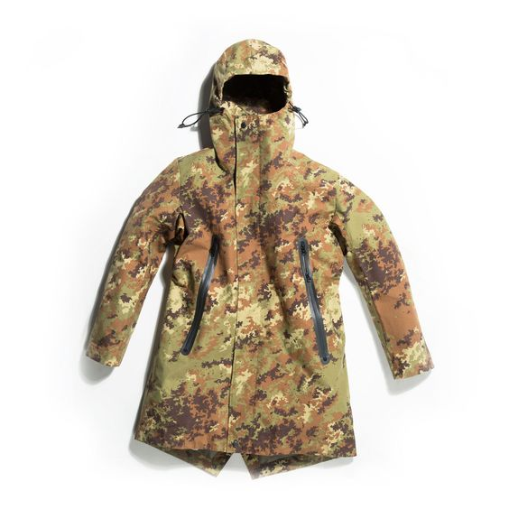 Technical Fish Parka is made in an original camouflage fabric from ...